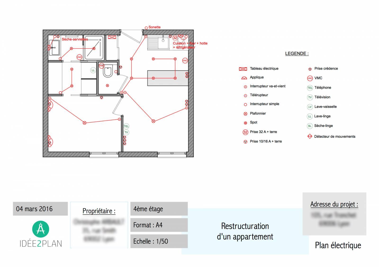 plan électrique appartement
